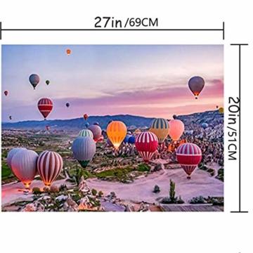 pepape Puzzles für Erwachsene 1000-teiliges Puzzle - Heißluftballon Kappadokien, pädagogisch intellektuell dekomprimierend Spielzeug Spaß Familienspiel für Kinder Erwachsene 832 - 3