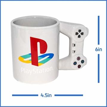 Playstation Tasse in Form PS4-Controller, Dual Shock-Kaffee- / Teetasse, Retro-Gaming-Trinktasse, Keramik-Sammlerstück, offizielles Lizenzprodukt, Standard-UK-Größe, 300 ml - 2