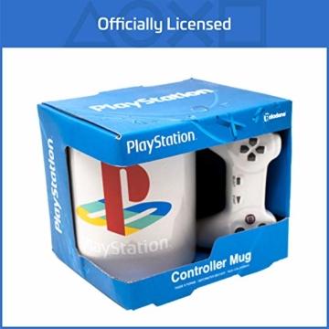 Playstation Tasse in Form PS4-Controller, Dual Shock-Kaffee- / Teetasse, Retro-Gaming-Trinktasse, Keramik-Sammlerstück, offizielles Lizenzprodukt, Standard-UK-Größe, 300 ml - 3