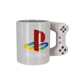 Playstation Tasse in Form PS4-Controller, Dual Shock-Kaffee- / Teetasse, Retro-Gaming-Trinktasse, Keramik-Sammlerstück, offizielles Lizenzprodukt, Standard-UK-Größe, 300 ml - 1