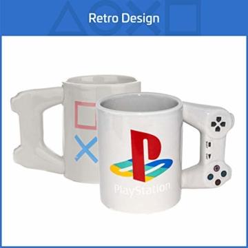 Playstation Tasse in Form PS4-Controller, Dual Shock-Kaffee- / Teetasse, Retro-Gaming-Trinktasse, Keramik-Sammlerstück, offizielles Lizenzprodukt, Standard-UK-Größe, 300 ml - 4