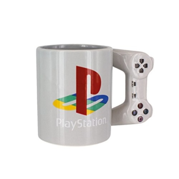 Playstation Tasse in Form PS4-Controller, Dual Shock-Kaffee- / Teetasse, Retro-Gaming-Trinktasse, Keramik-Sammlerstück, offizielles Lizenzprodukt, Standard-UK-Größe, 300 ml - 1