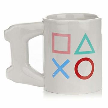 Playstation Tasse in Form PS4-Controller, Dual Shock-Kaffee- / Teetasse, Retro-Gaming-Trinktasse, Keramik-Sammlerstück, offizielles Lizenzprodukt, Standard-UK-Größe, 300 ml - 5