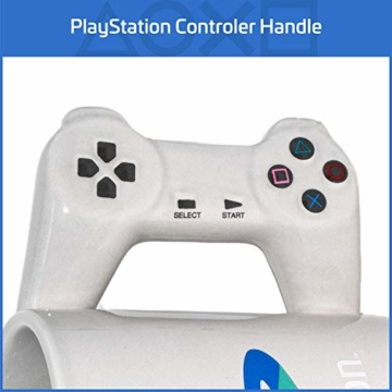 Playstation Tasse in Form PS4-Controller, Dual Shock-Kaffee- / Teetasse, Retro-Gaming-Trinktasse, Keramik-Sammlerstück, offizielles Lizenzprodukt, Standard-UK-Größe, 300 ml - 6