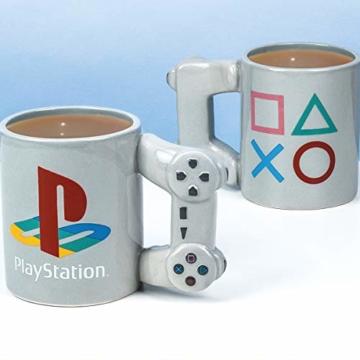 Playstation Tasse in Form PS4-Controller, Dual Shock-Kaffee- / Teetasse, Retro-Gaming-Trinktasse, Keramik-Sammlerstück, offizielles Lizenzprodukt, Standard-UK-Größe, 300 ml - 8