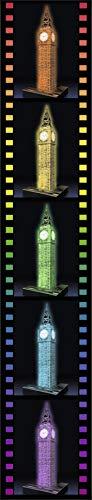 Ravensburger 3D Puzzle Big Ben bei Nacht mit 216 Teilen, für Kinder und Erwachsene, Wahrzeichen von London im Miniatur-Format, Leuchtet im Dunkeln - 5