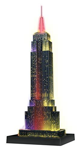 Ravensburger 3D Puzzle Empire State Building bei Nacht, für Kinder und Erwachsene, Wahrzeichen von New York im Miniatur-Format, Leuchtet im Dunkeln - 2