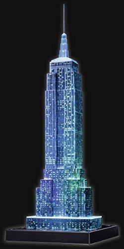 Ravensburger 3D Puzzle Empire State Building bei Nacht, für Kinder und Erwachsene, Wahrzeichen von New York im Miniatur-Format, Leuchtet im Dunkeln - 11
