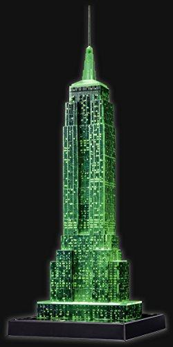 Ravensburger 3D Puzzle Empire State Building bei Nacht, für Kinder und Erwachsene, Wahrzeichen von New York im Miniatur-Format, Leuchtet im Dunkeln - 13