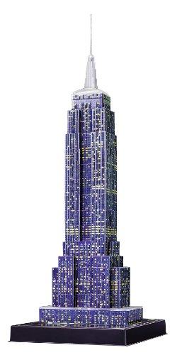 Ravensburger 3D Puzzle Empire State Building bei Nacht, für Kinder und Erwachsene, Wahrzeichen von New York im Miniatur-Format, Leuchtet im Dunkeln - 16