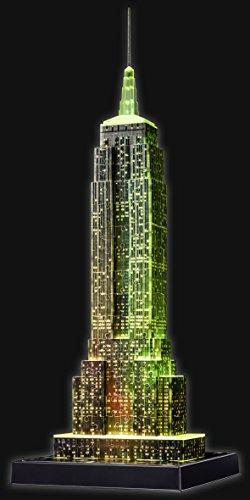 Ravensburger 3D Puzzle Empire State Building bei Nacht, für Kinder und Erwachsene, Wahrzeichen von New York im Miniatur-Format, Leuchtet im Dunkeln - 17