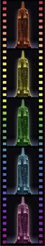 Ravensburger 3D Puzzle Empire State Building bei Nacht, für Kinder und Erwachsene, Wahrzeichen von New York im Miniatur-Format, Leuchtet im Dunkeln - 3