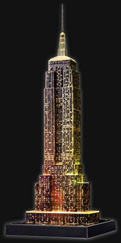 Ravensburger 3D Puzzle Empire State Building bei Nacht, für Kinder und Erwachsene, Wahrzeichen von New York im Miniatur-Format, Leuchtet im Dunkeln - 4