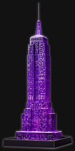 Ravensburger 3D Puzzle Empire State Building bei Nacht, für Kinder und Erwachsene, Wahrzeichen von New York im Miniatur-Format, Leuchtet im Dunkeln - 6