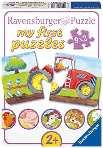 Ravensburger Kinderpuzzle 07333 - Auf dem Bauernhof - my first puzzles - 2,4,6,8 Teile - 1