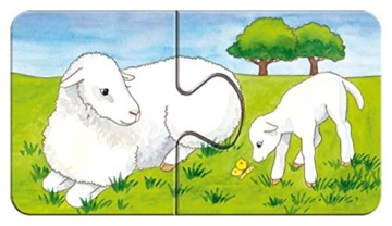 Ravensburger Kinderpuzzle 07333 - Auf dem Bauernhof - my first puzzles - 2,4,6,8 Teile - 10
