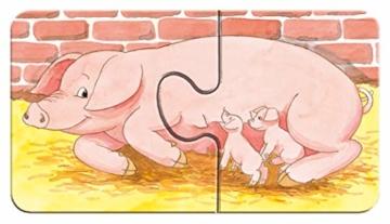 Ravensburger Kinderpuzzle 07333 - Auf dem Bauernhof - my first puzzles - 2,4,6,8 Teile - 12