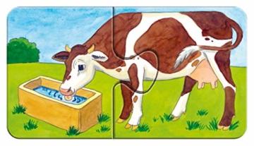 Ravensburger Kinderpuzzle 07333 - Auf dem Bauernhof - my first puzzles - 2,4,6,8 Teile - 14