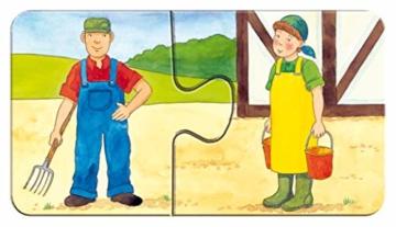 Ravensburger Kinderpuzzle 07333 - Auf dem Bauernhof - my first puzzles - 2,4,6,8 Teile - 20