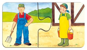 Ravensburger Kinderpuzzle 07333 - Auf dem Bauernhof - my first puzzles - 2,4,6,8 Teile - 3