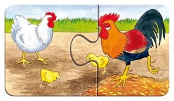 Ravensburger Kinderpuzzle 07333 - Auf dem Bauernhof - my first puzzles - 2,4,6,8 Teile - 6