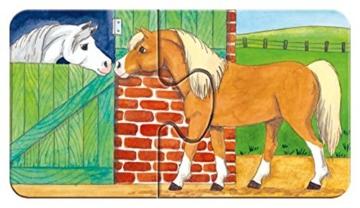 Ravensburger Kinderpuzzle 07333 - Auf dem Bauernhof - my first puzzles - 2,4,6,8 Teile - 9