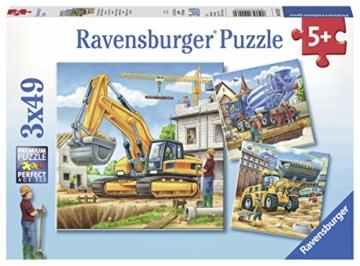 Ravensburger Kinderpuzzle 09226 - Große Baufahrzeuge - 3 x 49 Teile - 1