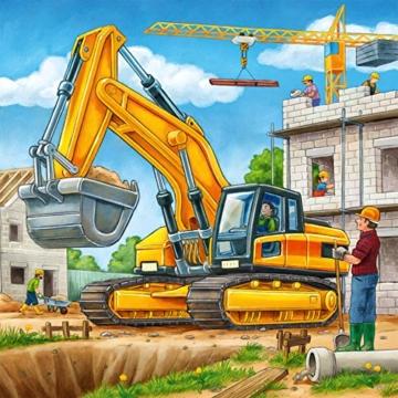 Ravensburger Kinderpuzzle 09226 - Große Baufahrzeuge - 3 x 49 Teile - 11