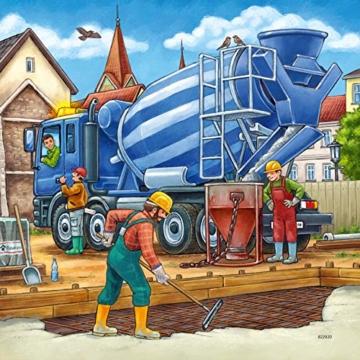 Ravensburger Kinderpuzzle 09226 - Große Baufahrzeuge - 3 x 49 Teile - 12