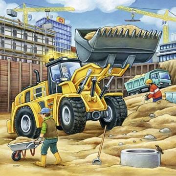 Ravensburger Kinderpuzzle 09226 - Große Baufahrzeuge - 3 x 49 Teile - 3