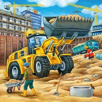 Ravensburger Kinderpuzzle 09226 - Große Baufahrzeuge - 3 x 49 Teile - 7
