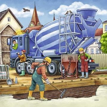 Ravensburger Kinderpuzzle 09226 - Große Baufahrzeuge - 3 x 49 Teile - 9
