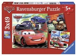 Ravensburger Kinderpuzzle 09281 - Weltweiter Rennspaß - 3 x 49 Teile - 1