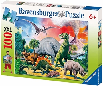 Ravensburger Kinderpuzzle 10957 - Unter Dinosauriern - 100 Teile - 1