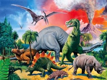 Ravensburger Kinderpuzzle 10957 - Unter Dinosauriern - 100 Teile - 2