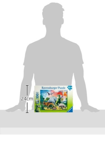 Ravensburger Kinderpuzzle 10957 - Unter Dinosauriern - 100 Teile - 5