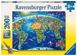 Ravensburger Kinderpuzzle 12722 - Große, weite Welt 200 Teile XXL - Puzzle für Kinder ab 8 Jahren - 1