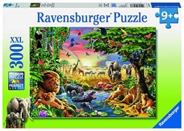 Ravensburger Kinderpuzzle 13073 - Abendsonne am Wasserloch - 300 Teile - 2