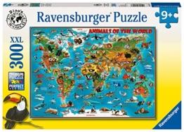 Ravensburger Kinderpuzzle 13257 - Tiere rund um die Welt - 300 Teile - 1
