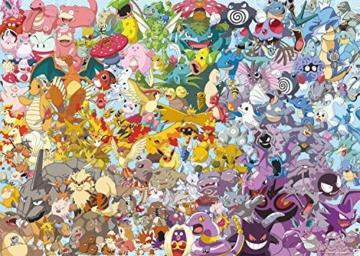 Ravensburger Puzzle 1000 Teile, Challenge Pokémon - Alle 150 Pokémon der 1. Generation als herausforderndes Puzzle für Erwachsene und Kinder ab 14 Jahren - 2