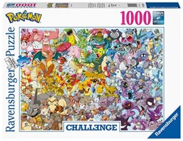 Ravensburger Puzzle 1000 Teile, Challenge Pokémon - Alle 150 Pokémon der 1. Generation als herausforderndes Puzzle für Erwachsene und Kinder ab 14 Jahren - 4