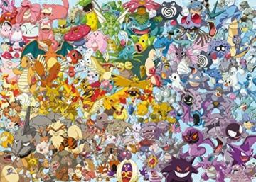 Ravensburger Puzzle 1000 Teile, Challenge Pokémon - Alle 150 Pokémon der 1. Generation als herausforderndes Puzzle für Erwachsene und Kinder ab 14 Jahren - 5