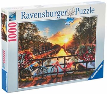 Ravensburger Puzzle 1000 Teile Fahrräder in Amsterdam - Farbenfrohes Puzzle für Erwachsene und Kinder in bewährter Ravensburger Qualität - 4