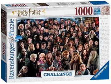 Ravensburger Puzzle 1000 Teile Harry Potter - Über 70 Charaktere aus der zauberhaften Welt von Hogwarts auf einem Puzzle für Erwachsene und Kinder ab 14 Jahren - 1