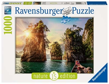 Ravensburger Puzzle 13968 - Three rocks in Cheow, Thailand - 1000 Teile - 1