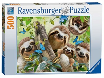 Ravensburger Puzzle 14790 - Faultier Selfie - 500 Teile - 1