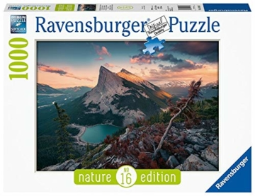 Ravensburger Puzzle 15011 - Abends in den Rocky Mountains - 1000 Teile - 1