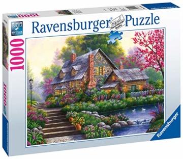 Ravensburger Puzzle 15184 - Romantisches Cottage - 1000 Teile - 1