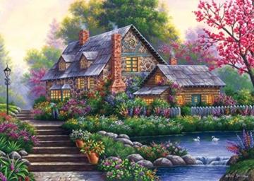 Ravensburger Puzzle 15184 - Romantisches Cottage - 1000 Teile - 6