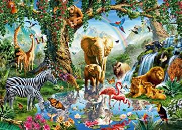 Ravensburger Puzzle 19837 - Abenteuer im Dschungel - 1000 Teile - 6